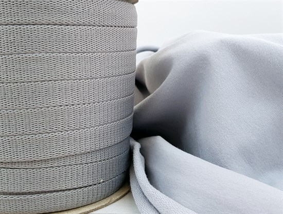 Шнур 1,2см - Серый - фото 9822
