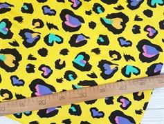 Футер 2х-нитка, Сердечки на желтом - фото 10380
