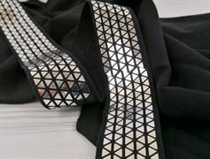 Резинка тканая черная, диско - фото 10821