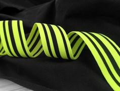 Резинка тканая, яркий салат - фото 10845