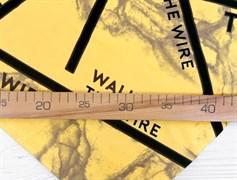 Футер 2х-нитка, THE WIRE желтый - фото 10934