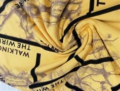 Футер 2х-нитка, THE WIRE желтый - фото 10935