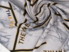 Футер 2х-нитка, THE WIRE серый меланж - фото 10941