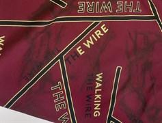 Футер 2х-нитка, THE WIRE бордо - фото 10944