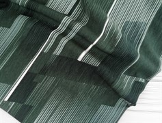 Футер 2х-нитка, полоски горизонт зеленая,черная,белая - фото 10949