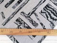 Футер 2х-нитка, Ромбы на сером - фото 10953