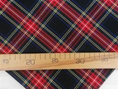 Костюмная ткань КЛЕТКА, красная - фото 10962