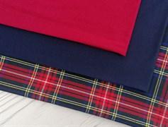 Костюмная ткань КЛЕТКА, красная - фото 10964