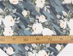 Цветы камуфляж, футер 2х нитка - фото 11188