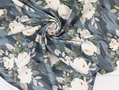 Цветы камуфляж, футер 2х нитка - фото 11189