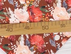 Цветы на бордо, футер 2х нитка - фото 11195