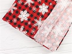 Кулирка Клетка со снежинками - фото 11312