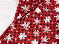 Кулирка Клетка со снежинками - фото 11315