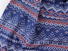 Футер Зимний узор - синий