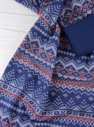 Футер Зимний узор - синий - фото 11348