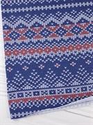 Футер Зимний узор - синий - фото 11349