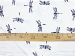 Штапель, Стрекозы на белом - фото 11816