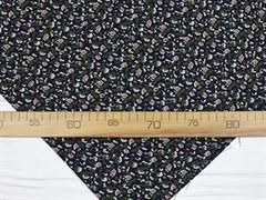 Штапель, Мелкие цветочки на черном - фото 11864