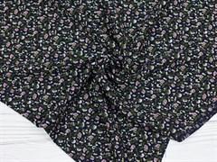 Штапель, Мелкие цветочки на черном - фото 11865