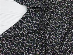 Штапель, Мелкие цветочки на черном - фото 11866