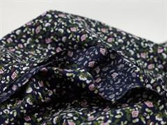 Штапель, Мелкие цветочки на черном - фото 11868