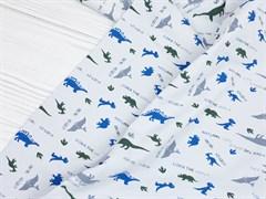 Кулирка с лайкрой Динозавры - фото 11884