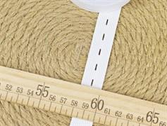 Резинка тканая с петлями, белая 20мм - фото 11967