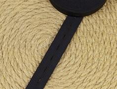 Резинка тканая с петлями, черная 20мм