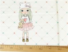 КУПОН Девочки блондинка с прямыми волосами - фото 12037