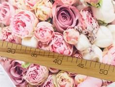 Футер 2х-нитка, розовые розы - фото 12043