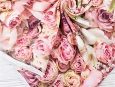 Футер 2х-нитка, розовые розы - фото 12045