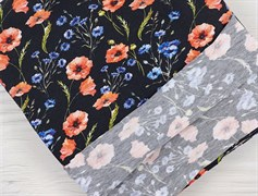 Кулирка полевые цветы на черном - фото 12099