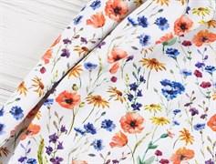 Кулирка полевые цветы на белом - фото 12104