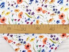 Кулирка полевые цветы на белом - фото 12105