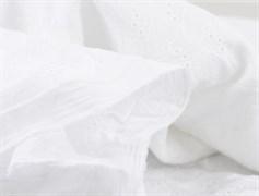 Хлопок шитье сердечки белые - фото 12230