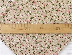 Штапель, Мелкие цветочки на бежевом - фото 12241