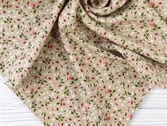 Штапель, Мелкие цветочки на бежевом - фото 12242