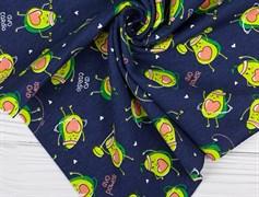 Кулирка Авокадо на синем - фото 12323