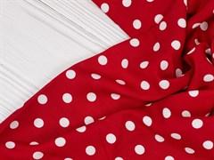 Штапель горох красный - фото 12351
