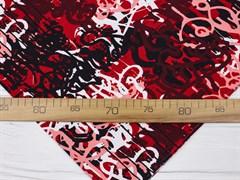 Кулирка с лайкрой, Граффити черные-бордо - фото 12446