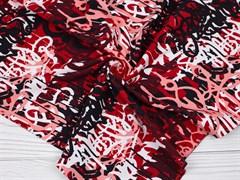 Кулирка с лайкрой, Граффити черные-бордо - фото 12447