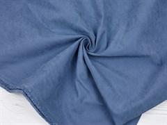 Курточная ткань с велюровым эффектом, Деним - фото 12460