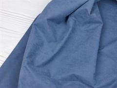 Курточная ткань с велюровым эффектом, Деним - фото 12461