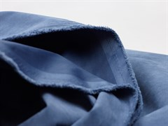 Курточная ткань с велюровым эффектом, Деним - фото 12463