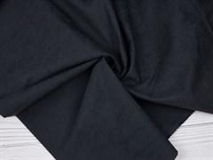 Курточная ткань с велюровым эффектом, Черный - фото 12484