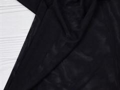 Стрейч сетка NUDE, черный - фото 12554
