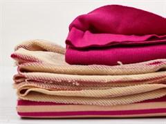Футер 3х нитка петля, полоска розовый/персик - фото 12590