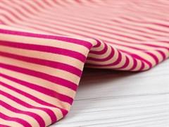 Футер 3х нитка петля, полоска розовый/персик