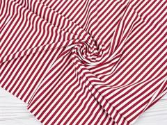 Кулирка с лайкрой, полоска красная/белая - фото 12599