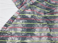 Кулирка с лайкрой полоска, тай-дай серый - фото 12616